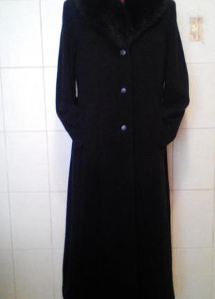 Шикарное,эффектное, приталенное,теплое,80%шерсти,пальто в пол ...