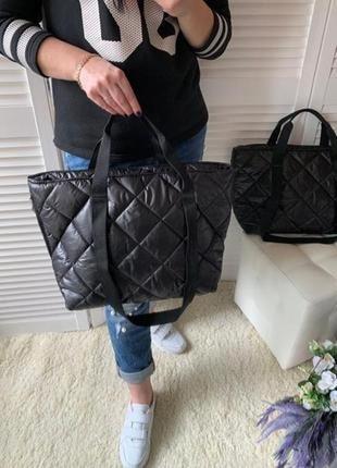 Новая женская стеганая сумка из болоньи, сумка на каждый день