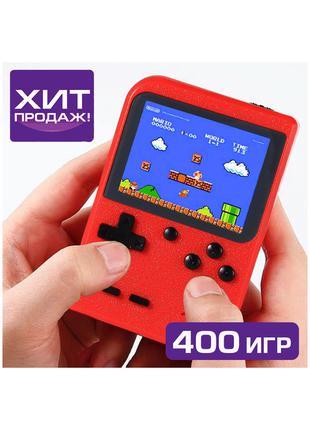 Портативная игровая приставка Game BOX 400 игр, подключение к ТВ