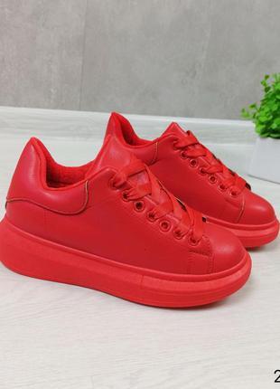 Красные кроссовки кроссы кеды криперы