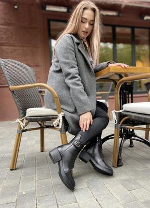 Классические зимние ботинки из натуральной кожи