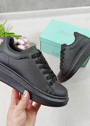 Чёрные кроссовки кроссы криперы