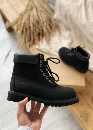 Мужские ботинки timberland 6 inch premium black