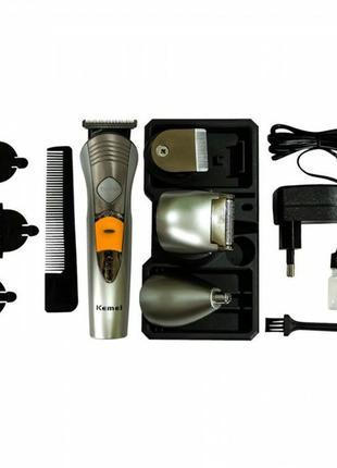 Триммер для бороды,носа,ушей и т.д,Мультитриммер Kemei 580 7 в 1