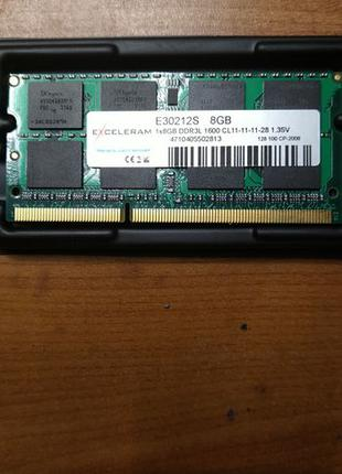 Память ноутбук So-dimm DDR3L 8Гб 1600 1,35В