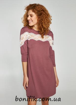 Женская ночная сорочка с белым кружевом (арт. LND 358/001)