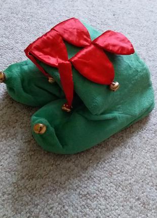 Карнавальные ботинки тапочки под костюм гнома, эльфа