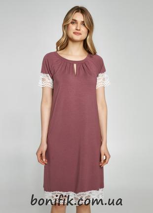 Женская ночная сорочка с короткими рукавами (арт. 359/001)