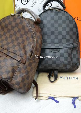 Женский рюкзак Louis Vuitton Луи Виттон клетка в расцветках средн