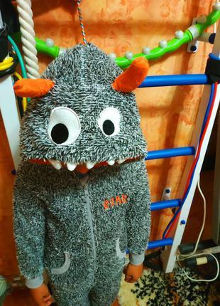 Новогодний карнавальный костюм стич монстрик на 4-6 лет