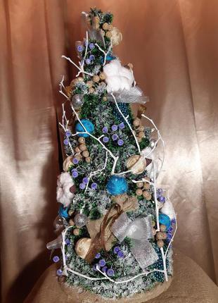Новогодняя ёлка ручной работы с подсветкой