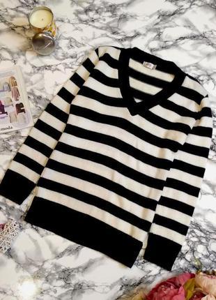 Стильный джемпер - свитер в полоску размер 8-12(38-42)