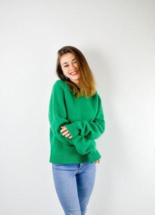 Ralph lauren новый мягкий зеленый шерстяной свитер, джемпер из...