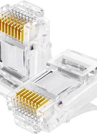 Коннектор rj-45 для витой пары ,патч-корда ,LAN кабеля .