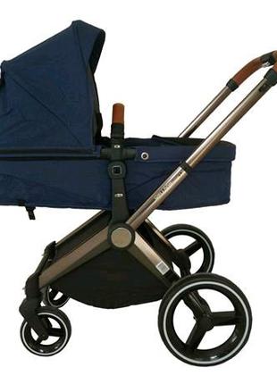 Детская коляска 2 в 1 (синий)