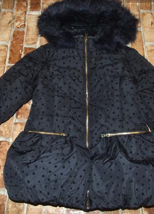 Теплое зимнее куртка пальто девочке 11 лет matalan