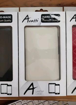 Чехол Avatti Nokia XL Slim Flip  Red/white/black