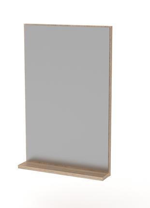 Прямоугольное зеркало с полочкой Компанит