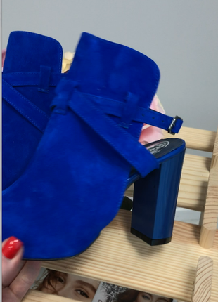 Женские босоножки, из натуральной замши, на удобном каблуке