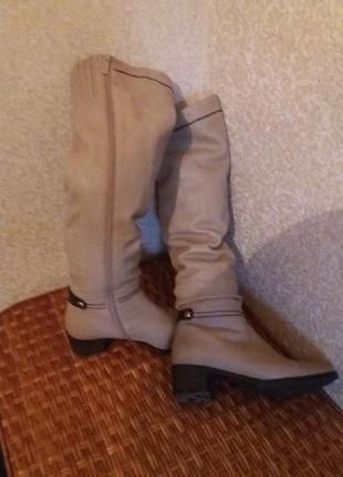 Высокие   кожаные   сапоги  еврозима
