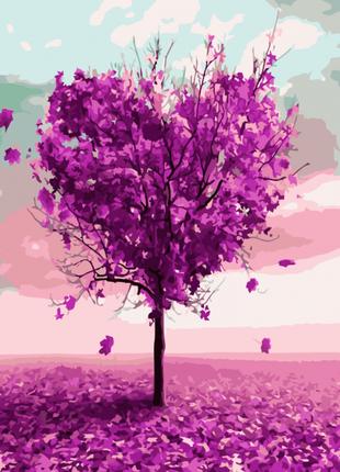 Картина по номерам Дерево влюблённых мечтаний, размер 40-