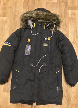 Пальто зима для мальчика рост 1146—152