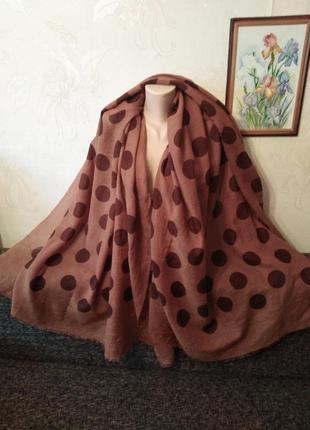 Большой! натуральный шелк и шерсть, тоненький шарф, палантин, ...