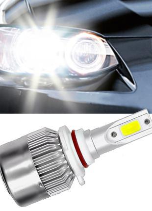 Светодиодные LED лампы в фары автомобиля H11 COB 6000K 8-48V