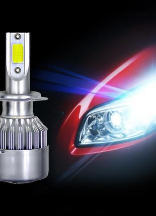 Светодиодные LED лампы в фары автомобиля H7 COB 6000K 8-48V