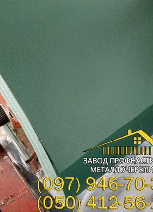 Матовый зелёный профлист Ral 6005, лист гладкого метала Ral 6005