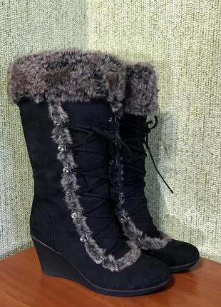 Женские сапожки, сапоги, чоботи на платформе 41 размер