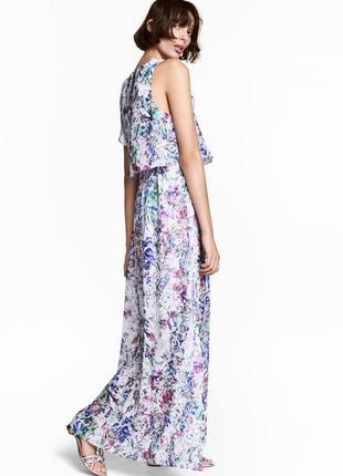 Красивое длинное платье h&m в цветочный принт.