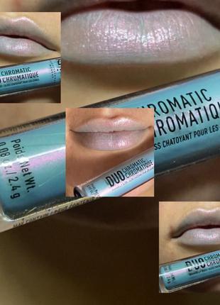 блеск для губ Nyx Duo Chromatic Shimmer Lip Gloss - Day Club