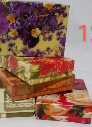 Коробка подарочная, картонная, цветная 12/9/3 см