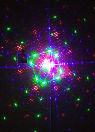 Уличный трехцветный лазерный проектор движение вращение 72 узора
