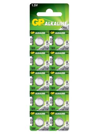 Батарейка GP AG10 (189-U10, LR54), 1.5V Alkaline