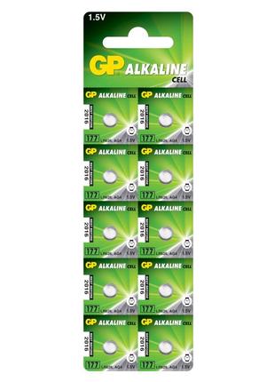 Батарейка GP AG4, 177-U10, LR626, SR66, 1.5V Alkaline