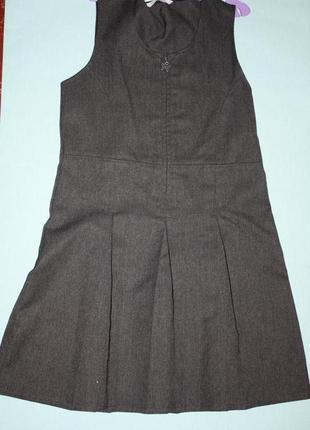 Школьный серый сарафан ф.m&s  для девочки 7/8 лет р-122/128 в ...