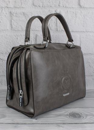 Женская сумка саквояж velina fabbiano 57956-1 серая