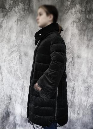 Теплая длинная зимняя куртка пальто
