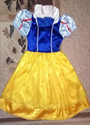Карнавальный костюм Белоснежка девочке 4 - 5 лет