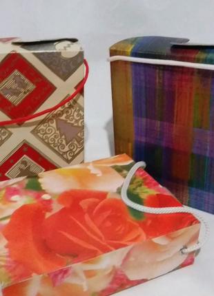 Коробка подарочная с веревочкой,,прямоугольная.