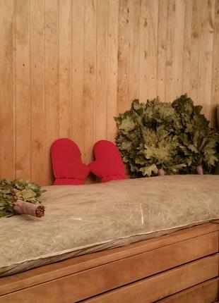 Матрасы с сеном и травами для бани