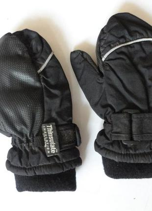 Термо варежки перчатки на флисе thinsulate 3-4г