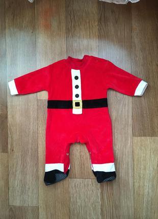 Человечек, костюм новогодний дед мороз