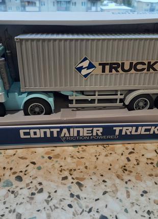 Машина Трейлер грузовой WY 575 A (18) инерция, свет, звук,