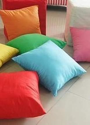 Комплект подушек - 4шт `38х38см диванные, декоративные, детские