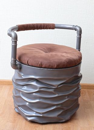 Дизайнерское кресло / стул из металла на колесах