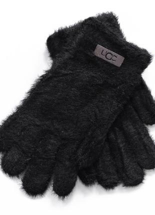 """Детские перчатки """"fur"""" черные"""