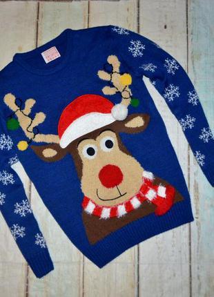Новогодний свитер george на 12-13 лет